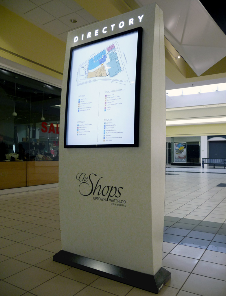 Interior signs excellent signs and displays inc for Designer directory