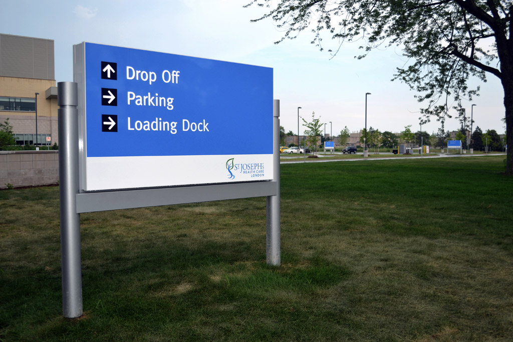 Exterior Wayfinding Systems - Excellent Signs and Displays Inc